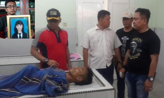 Mayat tersangka penjambret pegawai BNI Siantar saat di rumah sakit