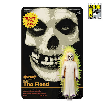 "San Diego Comic-Con 2018 Exclusive Misfits Fiend Glow In The Dark 3.75"" ReAction Retro Action Figure by Super7"