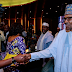 Buhari In Handshake With Fayose, Obasanjo At Meeting Of National Council State