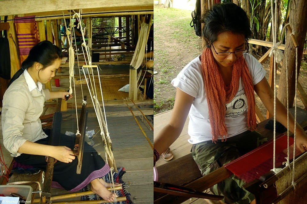 Weaving at Ock Pop Tok in Luang Prabang