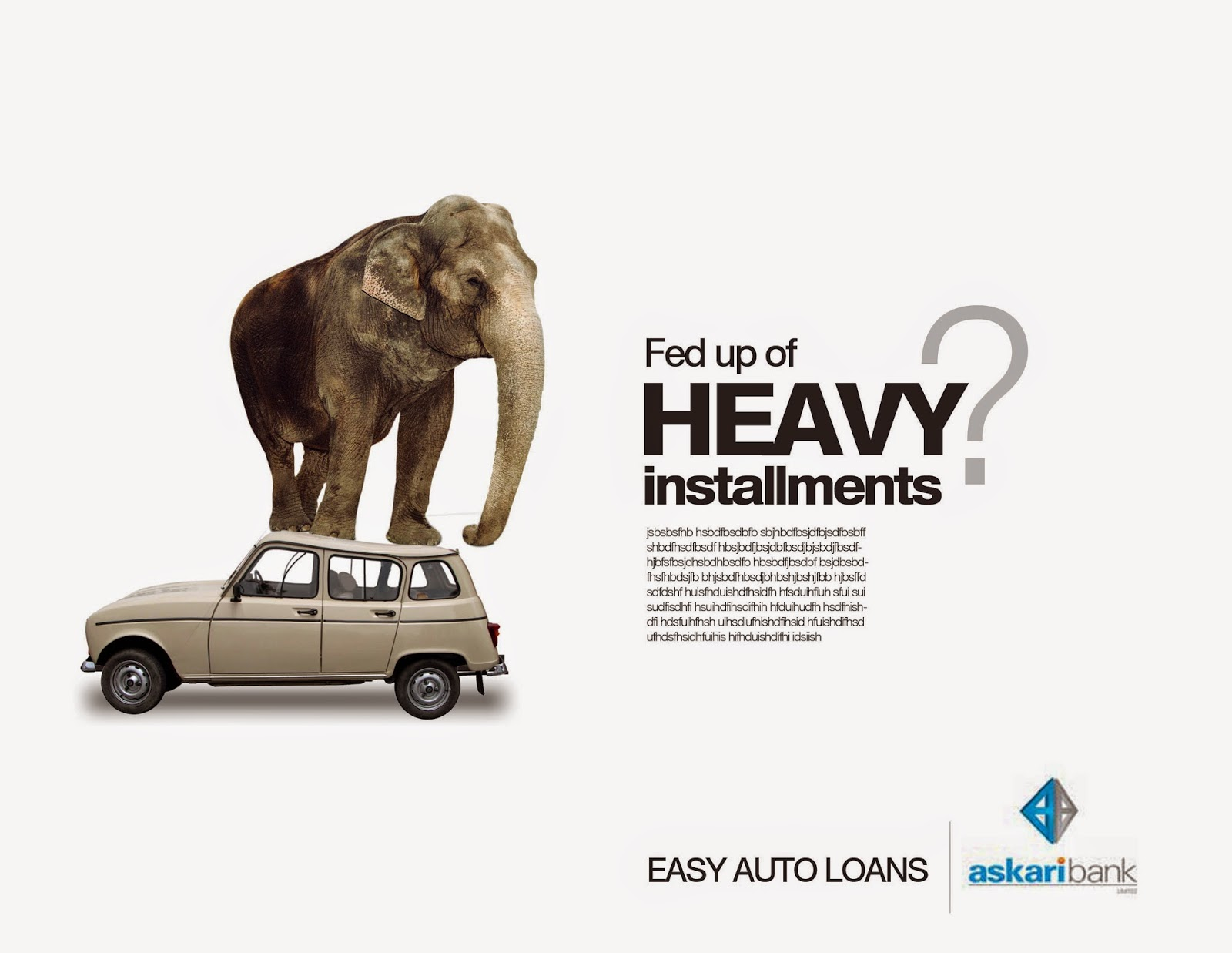 creative advertising ideas: easy car loan advertisement idea