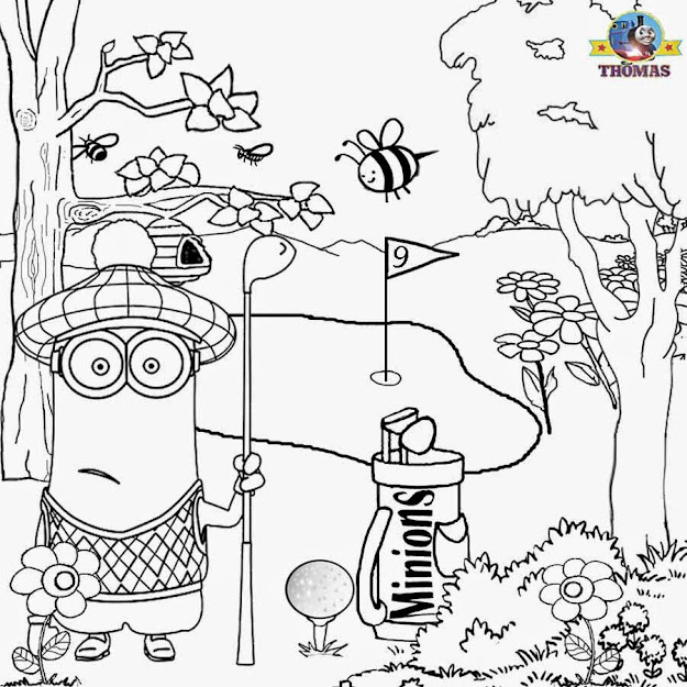 Fanatical Dress Sportswear Scottish Golf Costume Kiddies Coloring Sheets  Minion Summer Fun Golfing Border
