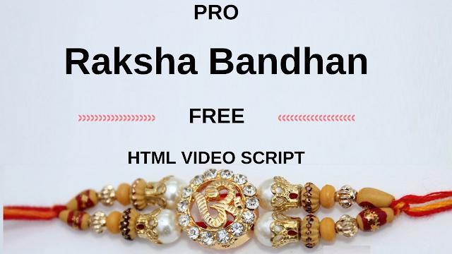 PRO Raksha Bandhan free HTML video  script | wishing website new script | whatsapp viral script