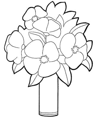 Gambar Mewarnai Bunga - 19