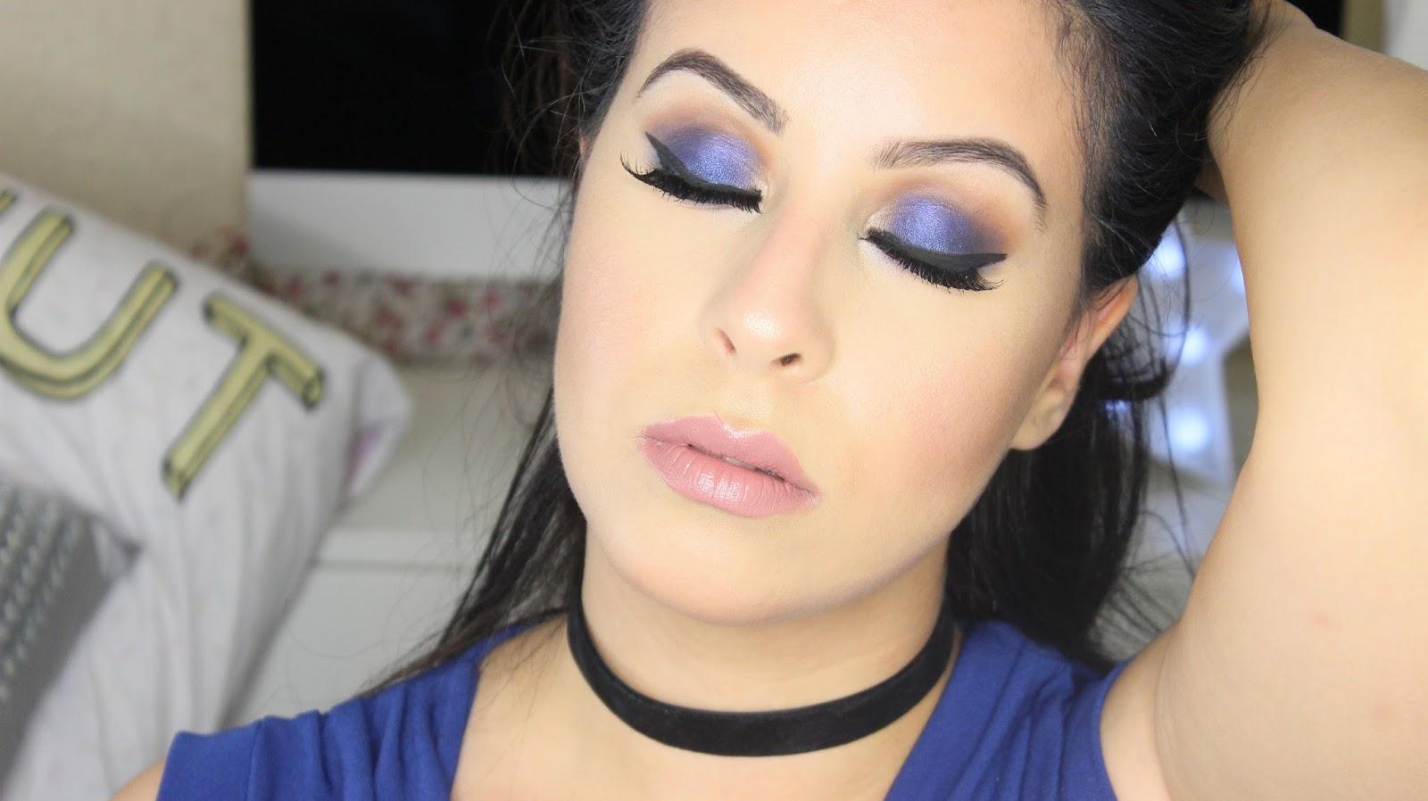 Navy Blue Eye Makeup Makeupgeek Cosmetics Youtube Video Beauty