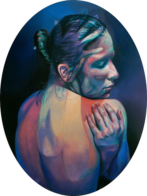 Imaginary Grasp by Scott Hutchison. 19x24 inches, oil on aluminum