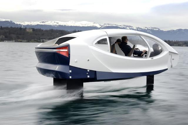 SeaBubble adalah taksi laut terbang