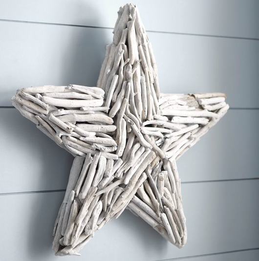 Lovely White Driftwood Star