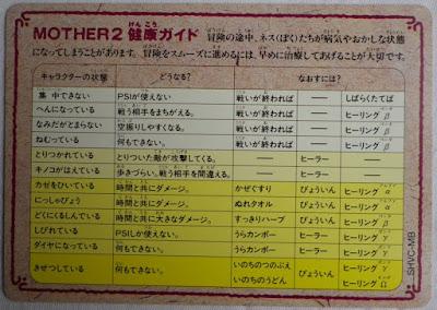 Mother 2 - Tarjeta detrás