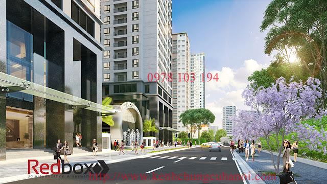 Mặt trước dự án Việt Đức Complex