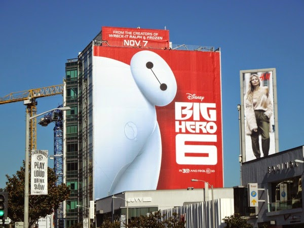 Giant Big Hero 6 movie billboard