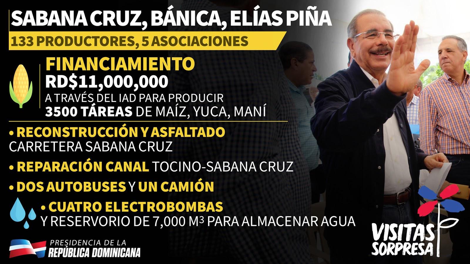 Visita a Sabana Cruz, Bánica, Elías Piña. Infografía