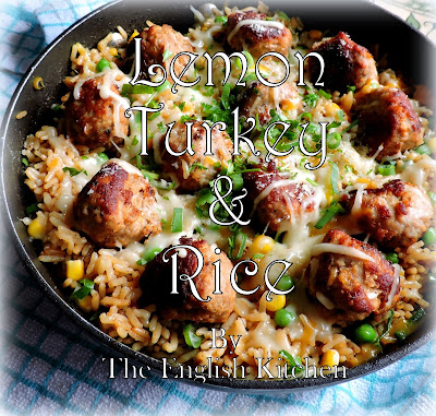 Turkey Meatballs and Lemon Rice