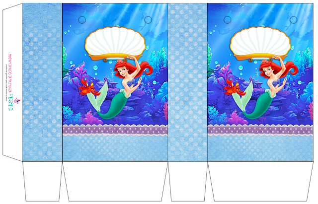 The Little Mermaid Birthday: Free Printable Boxes.