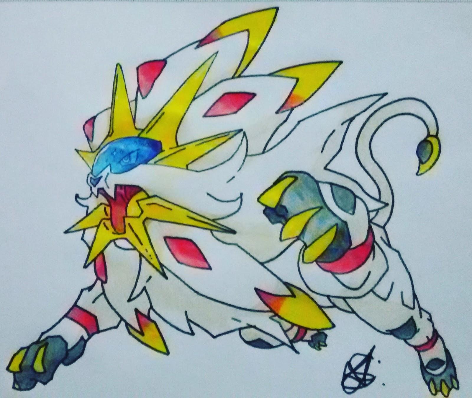 Tutorial De Desenho Solgaleo Pokemon Blast News