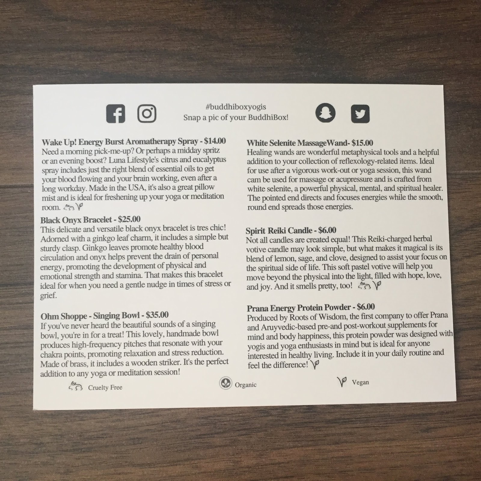 BuddhiBox Review - July 2018 - Eco-Lifestyle Subscription