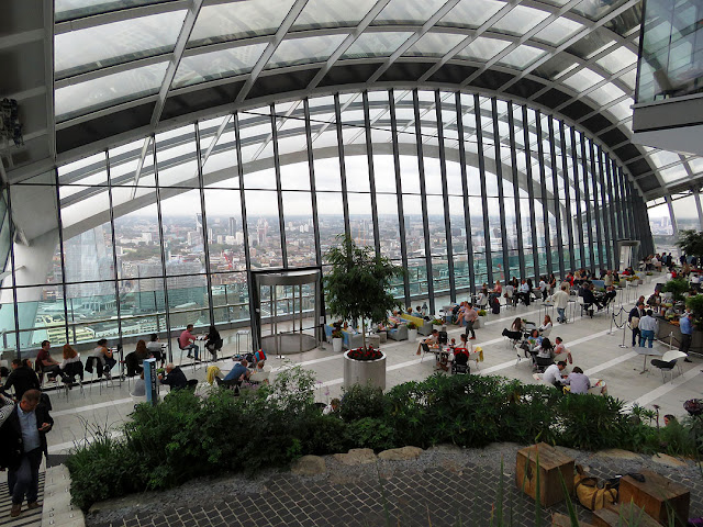 "Sky Garden at the 35th floor of Rafael Viñoly's ""Walkie Talkie"" Fenchurch Street, London"