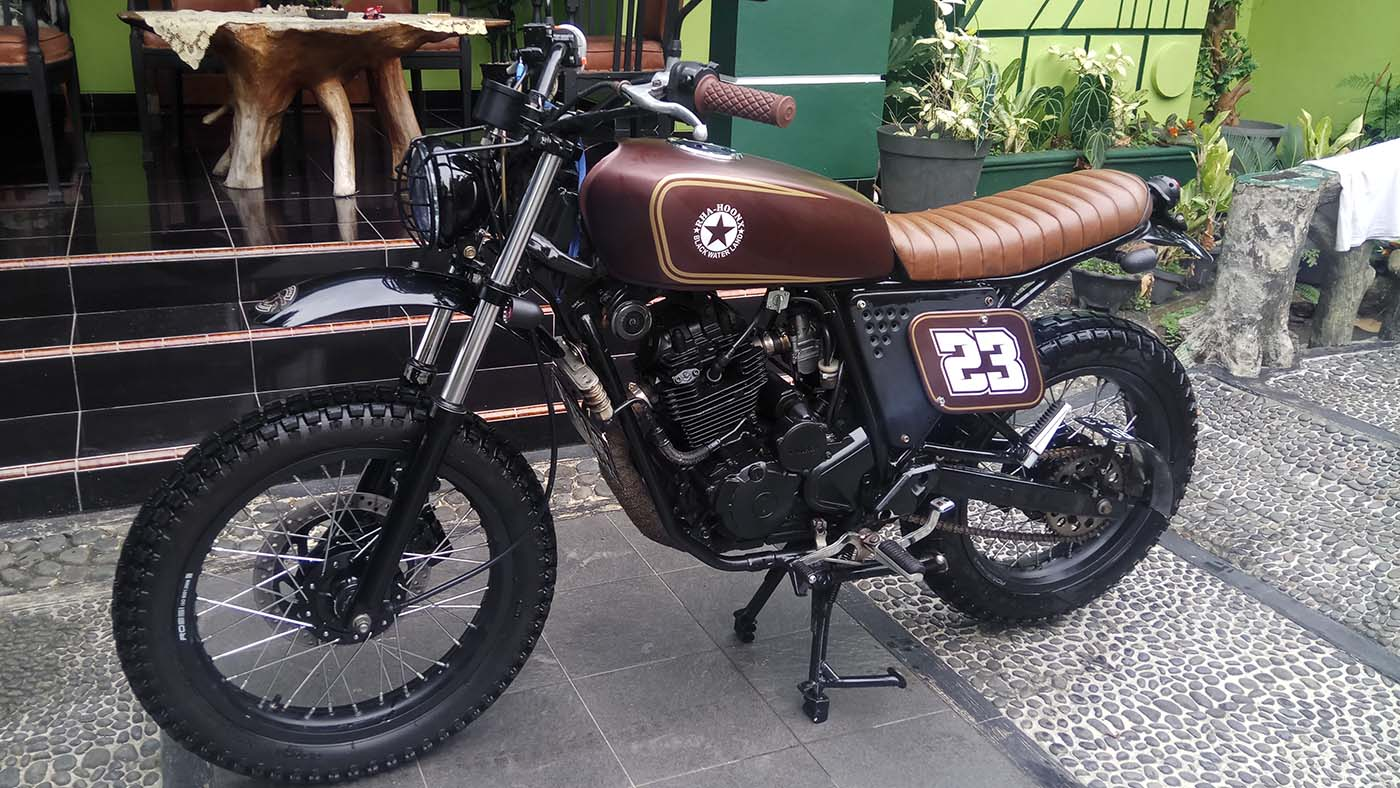 Modifikasi Motor Custom Yamaha Scorpio 225