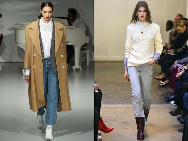 Прямые джинсы не сдали своих позиций