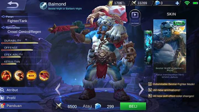 New Skin Balmond - Bestial Might of Barbaric Might