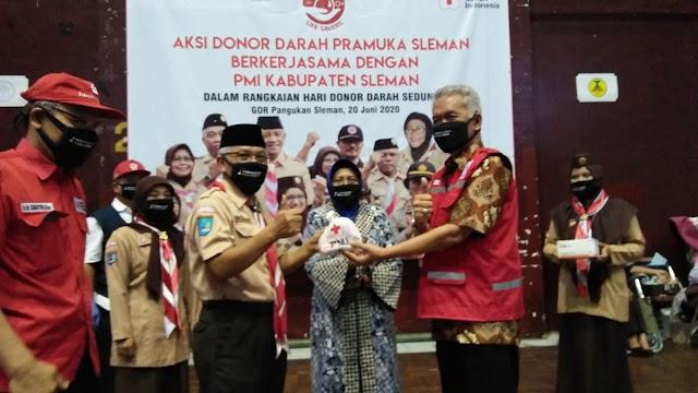 Aksi Donor Darah Wujud Nyata Kerjasama PMI dengan Pramuka Sleman dalam Bakti Masyarakat