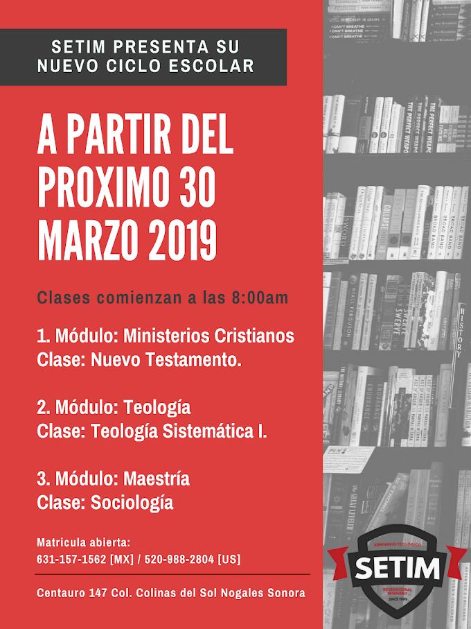 SETIM presenta nuevo ciclo escolar Marzo-Mayo