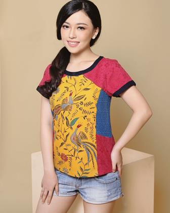 Model Baju Batik Atasan Kombinasi Kain Polos Terbaru
