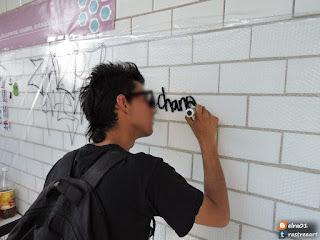 tags de graffiti