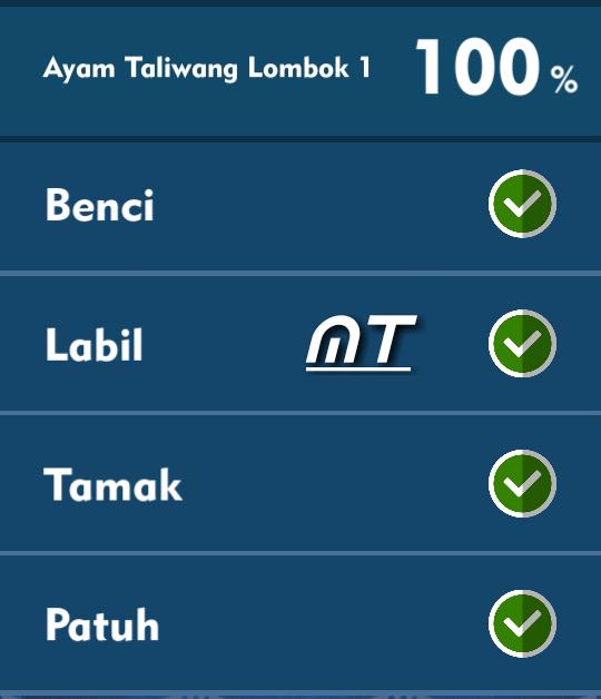 Kunci Jawaban Tts Cak Lontong Ayam Taliwang Lombok 1