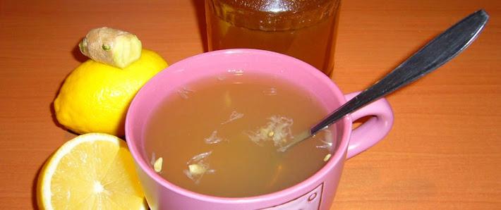 čaj citrón, zázvor, med