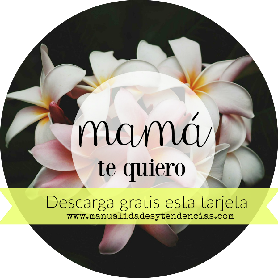 Tarjeta para el día de la madre flores