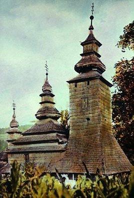 Церковь Покрова Пр. Богородицы из с. Плоское Свалявского р-на в 1920-х годах