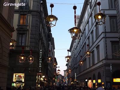 Firenze illuminazioni Natale
