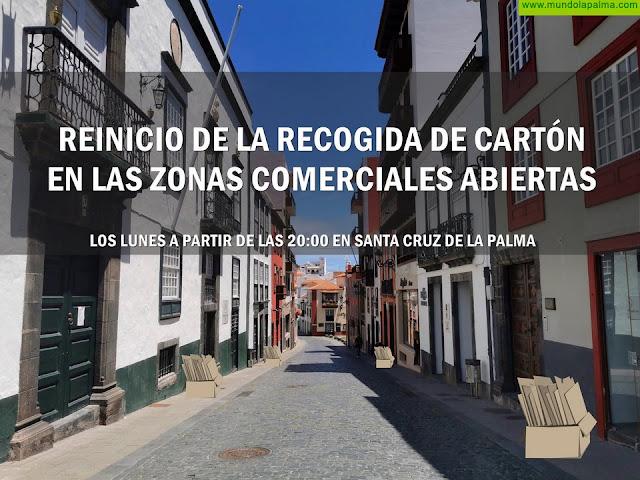 El Cabildo de La Palma reanuda el servicio de recogida puerta a puerta de papel y cartón en zonas comerciales