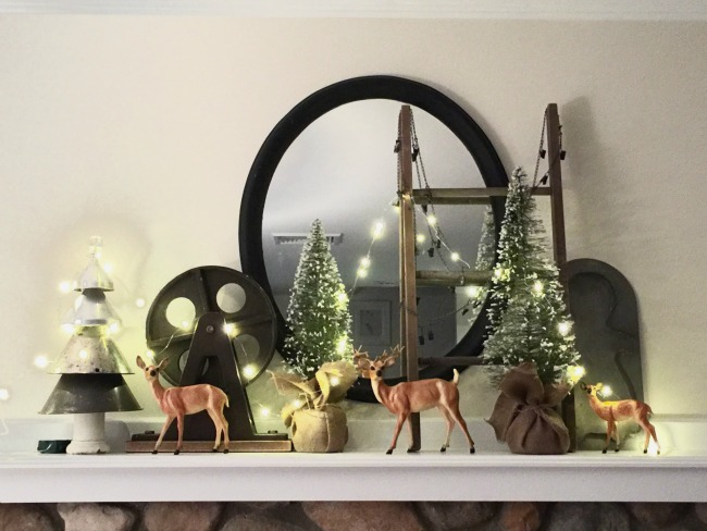 A Beautiful Christmas Mantel With My Favorite Things