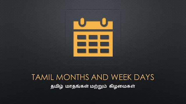 Week days and Month