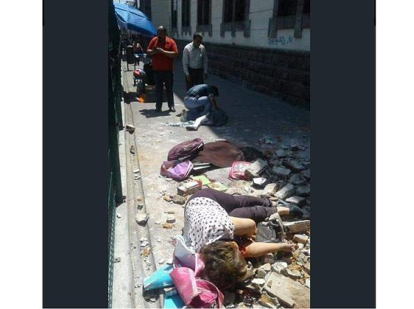 Madre e hija mueren abrazadas tras el terremoto   Q.E.P.D