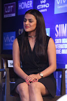 Actress Shraddha Srinath Stills in Black Short Dress at SIIMA Short Film Awards 2017 .COM 0044.JPG