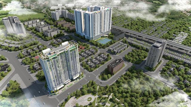 Phối cảnh chung cư Eco Dream Nguyễn Xiển
