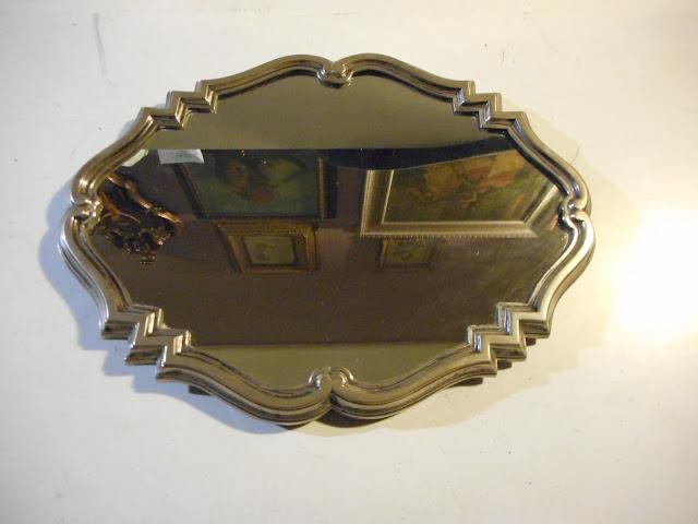 Antico vassoio a specchio con cornice in argento titolo for Specchio antico piccolo
