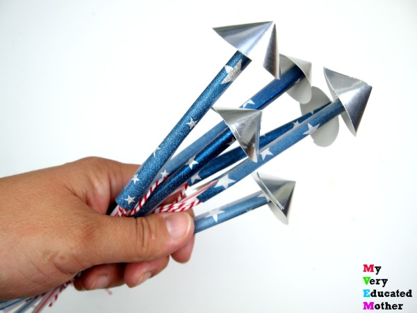 Kids Craft: Firecracker Straw Rockets