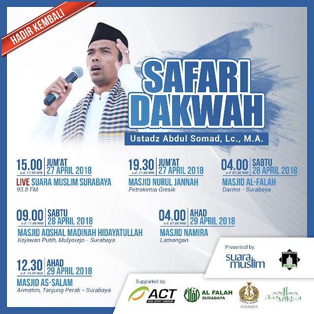 Safari Dakwah Ustadz Abdul Somad, LC., M.A. di Gresik