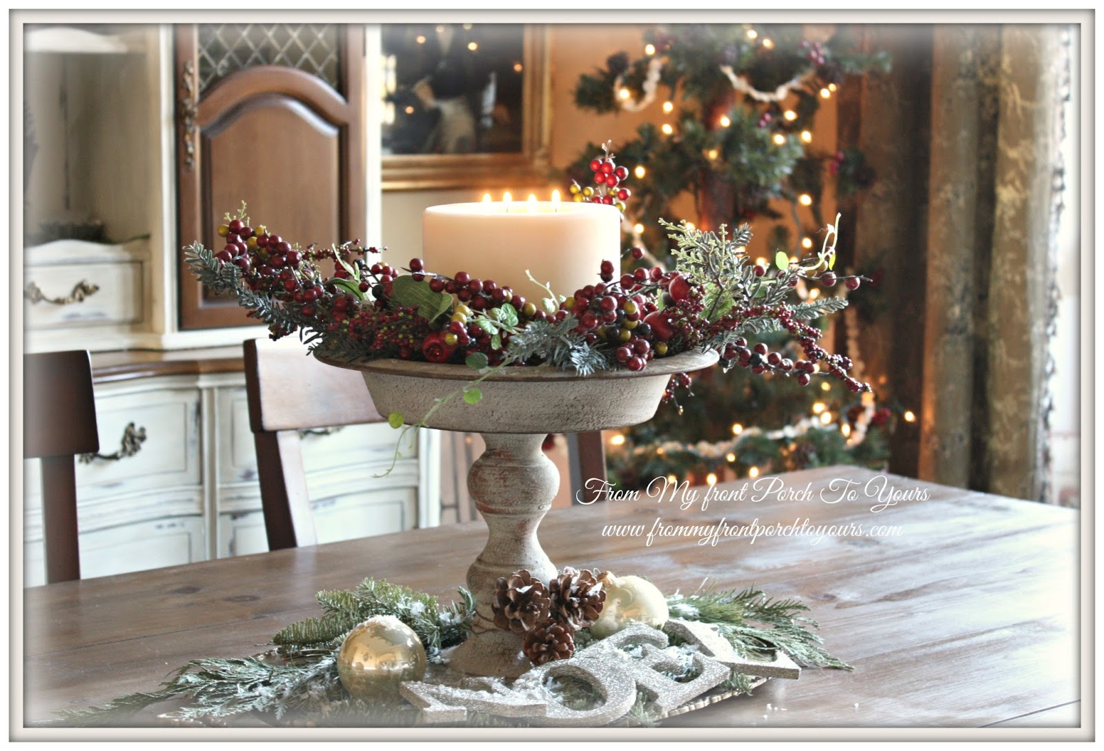 from my front porch to yours french farmhouse christmas dining room 2013. Black Bedroom Furniture Sets. Home Design Ideas