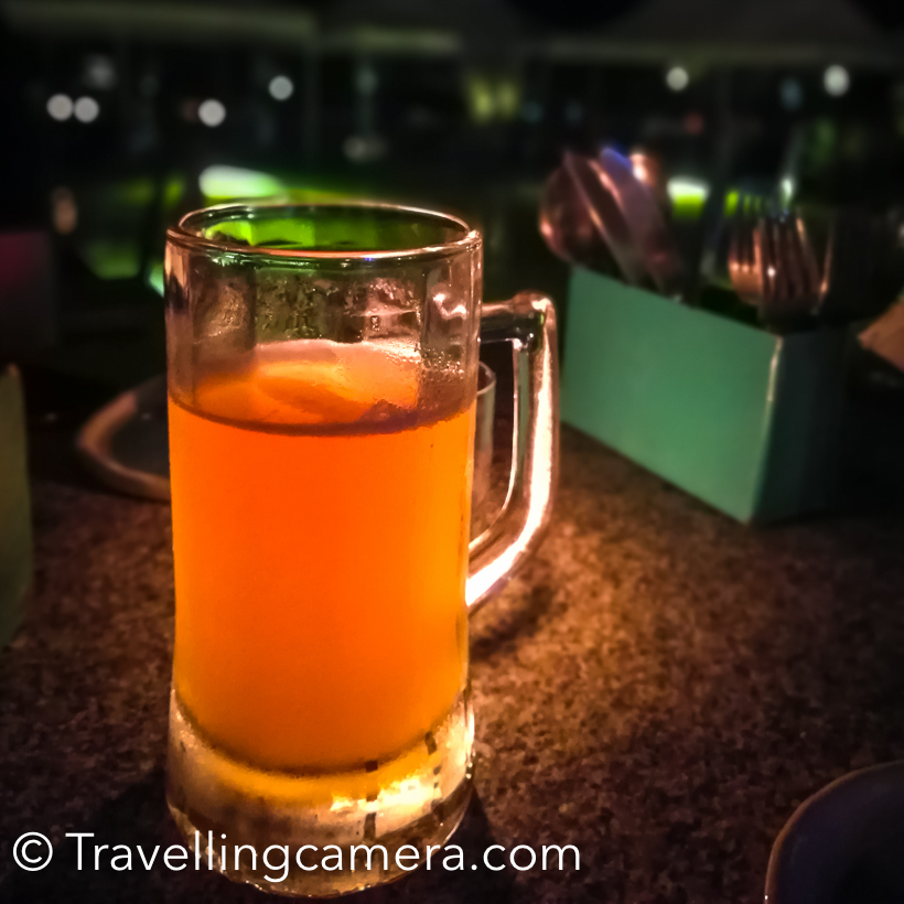 It's a contemporary design microbrewery on Sarjapur road which has an open air poolside seating arrangements and serve brilliant set of snacks. We ordered beer from their own brewery and tried different beers. Most of them were awesome. A huge mug like above ranges from 250-550 Rs.