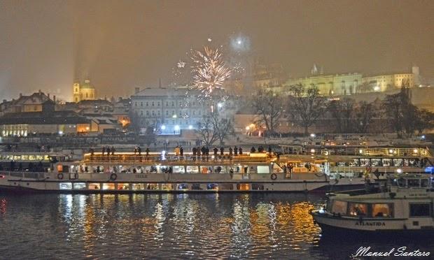 Praga, Capodanno sul fiume Moldova