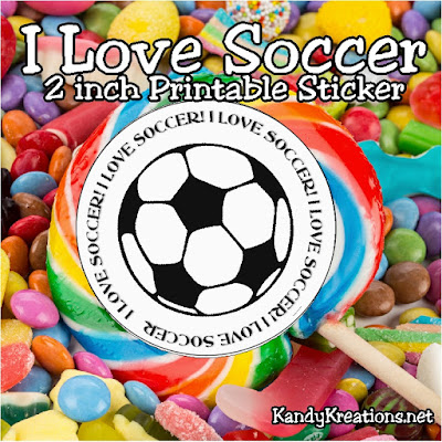 I am so glad that I sent my kids to Challenger British soccer camp this summer! Their love of the game has increased and their pent up energy has decreased. I love the ability soccer has to save my sanitity. And I love sharing my love of soccer with this versatile soccer printable that's perfect for a sticker or cupcake topper for your next soccer party.