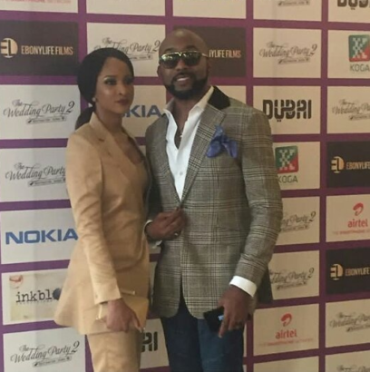 Adesua Etomi and Banky W make their first official appearance as a couple