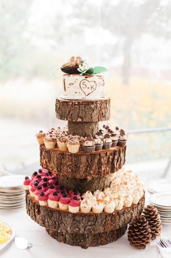 25 Fabulous Rustic Wedding Cupcake Ideas You Need To See / Wedding ...