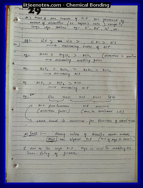 Chemical Bonding Notes IITJEE 5