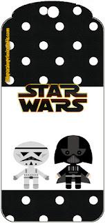 Marcapaginas para Imprimir Gratis de Star Wars Bebés.